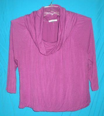 Uniform JPR Woman Magenta Long Sleeve Stretch Cowl Neck Top 16/18W B:48W:46L:24 ()