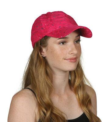 Sequin Baseball Cap (Womens Sequin Trim Baseball)