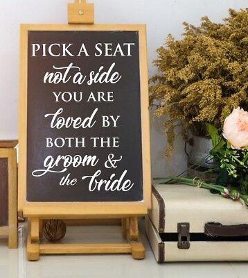 Pick A Seat Wedding Sign Decals - Wedding Decorations Rustic Wedding Decor DIY  - Rustic Diy Decor