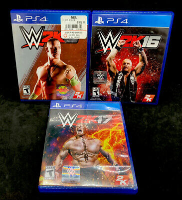 Playstation 4 W2k15, W2k16, & W2k17 Game Bundle - Excellent Condition!!