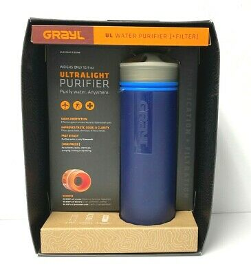 GRAYL Ultralight Purifier Purify Water, Blue, Brand New