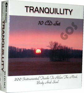 Tranquillity K-Tel 10 CD 200 Instrumental Relaxing Music Tracks New Sealed