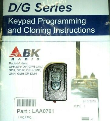New Oem Dealer Relm Bendix King Bk Radio Laa0701 Programming Plug Dph Gph Eph