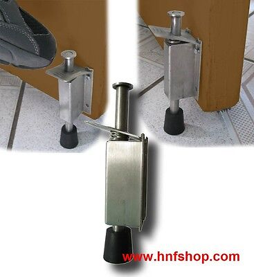 1pc of HnF shop stainless steel DOOR DRAFT STOPPER, Stop & Release by Foot