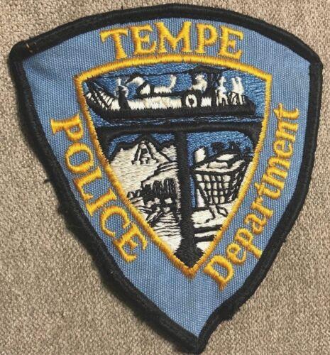 """vintage """"TEMPE POLICE DEPARTMENT"""" PATCH rare ARIZONA az LAW ENFORCEMENT OFFICER"""