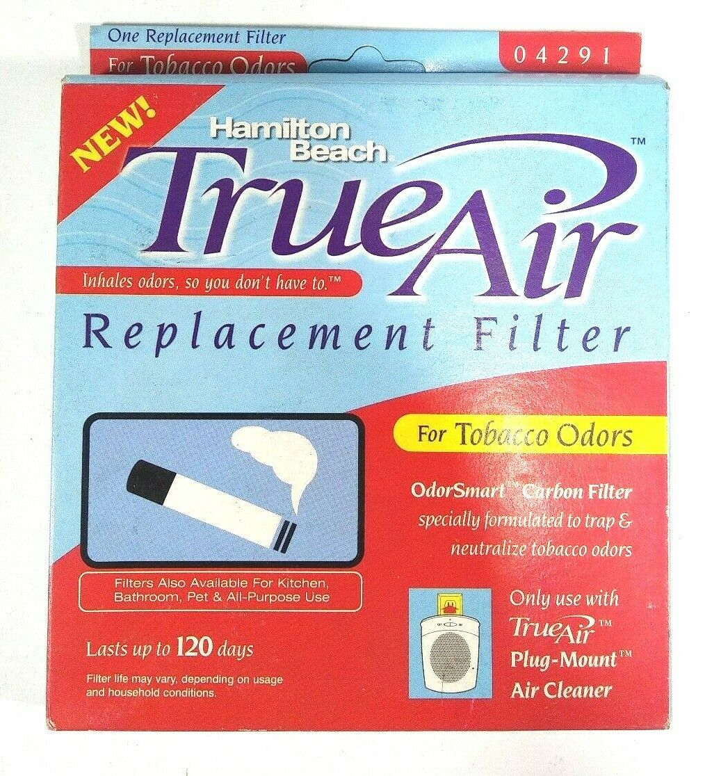 True Air Replacement Filter, For Tobacco Odors, 1 ea