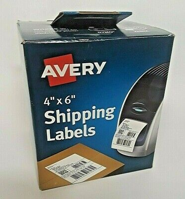 Avery Thermal Printer Shipping Labels 4x6 White 220roll 4156 Use In Dymozebra