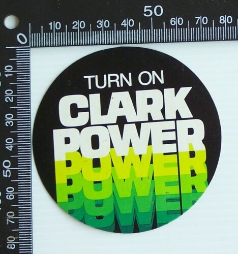 VINTAGE TURN ON CLARK POWER AUSTRALIA SOUVENIR ADVERTISING PROMO STICKER