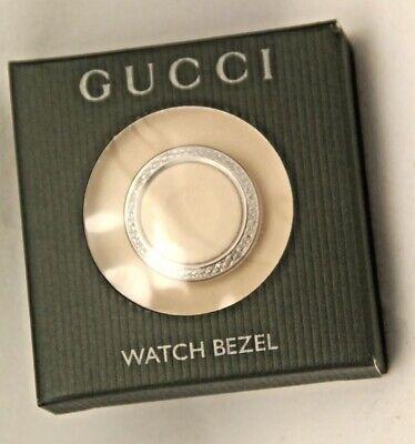 AUTHENTIC - GUCCI SILVER DIAMOND-CUT BEZEL for Bangle Watch 1100L 1200L 11/12