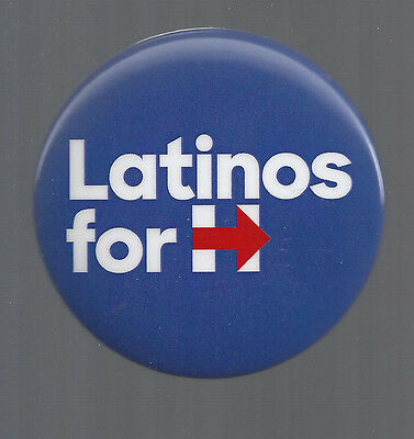 """2016 """"LATINOS FOR HILLARY"""" CLINTON BUTTON FROM INDIANA CAMPAIGN EVENT"""