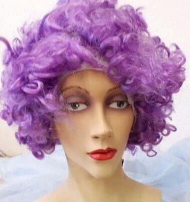Afro violett Lockenperücke Fantasy 2. Wahl 129121813 (Lila Afro)