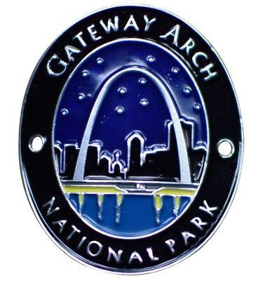 Gateway Arch National Park Walking Hiking Stick Medallion - (Park Gateway)