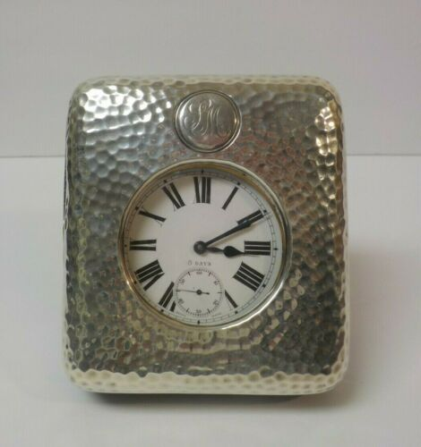 Wm. Comyns Sterling Silver Travel Case with Swiss Made Pocket Watch, c. 1922