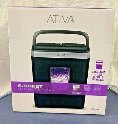 Ativa 6-sheet Cross-cut Shredder Black A06cc19