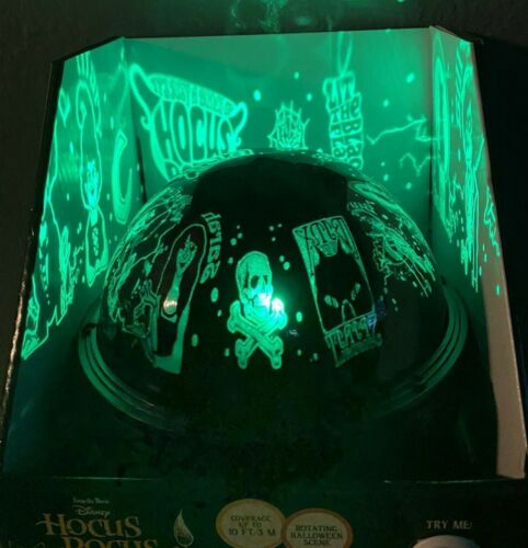Hocus Pocus LED Shadow light Projection Rotating Light Changes Color See Video!