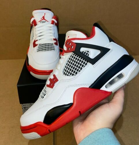 Jordan 4 Retro Fire Red 2020 (GS) sizes 4-7y = 5.5-8.5 Women