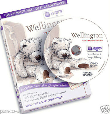 Docrafts disc Wellington bear Past Times collection CD Rom. Digital designer DVD