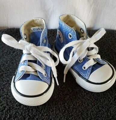 Converse All Star Infant/Toddler Size 3 High Top Medium Blue Shoes