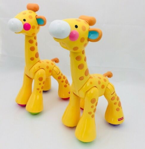 Fisher Price Amazing Animals Click Joint Toys Zoo Giraffe 2 piece lot