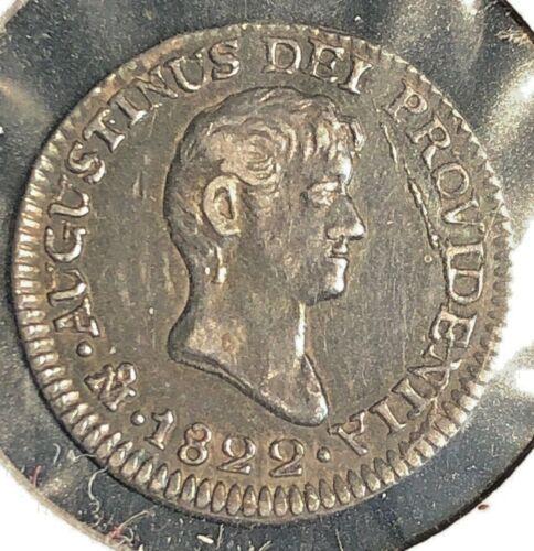 Mexico 1822  MoJM 1/2 Real  KM 301  Iturbide