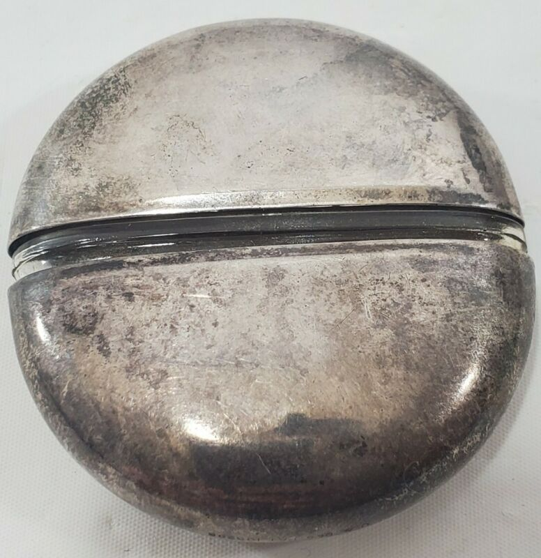 Vintage Sterling Mary Dunhill Compact Travel Glass Perfume Bottle