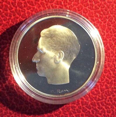 Belgique - Refrappe officielle Monnaie Royale - Rare 10 Francs 1969 VL  Argent
