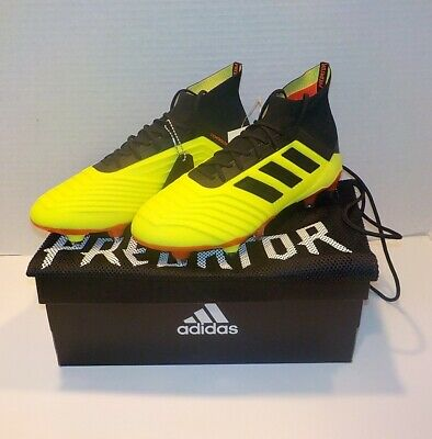 5fbf06f944c adidas PREDATOR 18.1 SG Soccer Cleat YELLOW BLACK DB2048 MEN SIZE 7   WOMAN  8.5
