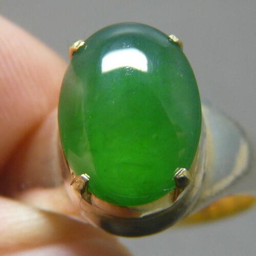 NICE Genuine Jadeite Jade (Natural-Type A) Deep-Green 2.15 ct Cabochon