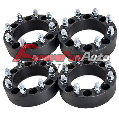 "4PC 2"" 8x6.5 Black Wheel Spacers 9/16"" Studs for Dodge Ram 2500 3500 Ford F-250"