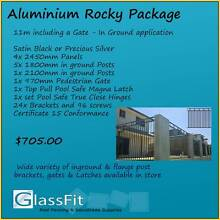 Aluminium Pool Fencing Rocky Design 11m Package - In Soil Posts Yatala Gold Coast North Preview