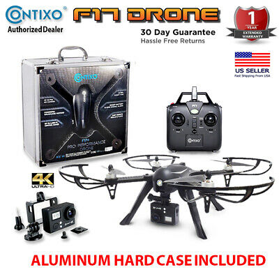 Contixo F17+ RC Brushless Motors Quadcopter Drone + Aluminum Case & 4K HD Camera