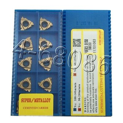 20pcs 16er 3.0iso Smx30 Carbide Inserts Threading Inserts For Steel High Quality