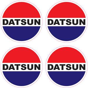 DATSUN  MAG WHEEL CENTRES DECALS DATSUN MAG WHEEL STICKERS
