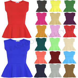 WOMENS-SLEEVELESS-PLAIN-PEPLUM-FLARED-PLUS-SIZE-FRILL-MINI-PATRY-DRESS-TOP-8-26