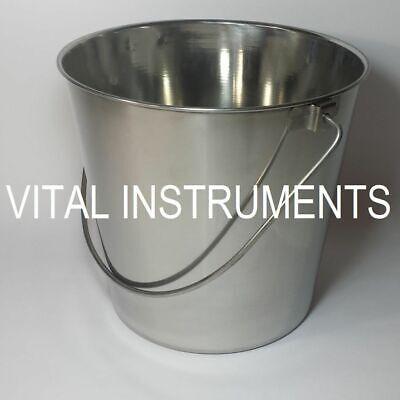 Stainless Steel Bucket Pail 9 Qt Dog Kennel Farm Water Milk Feeding Box Of 12