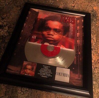 NAS illmatic Platinum Record Disc Album Music Award MTV Grammy RIAA Jay Z