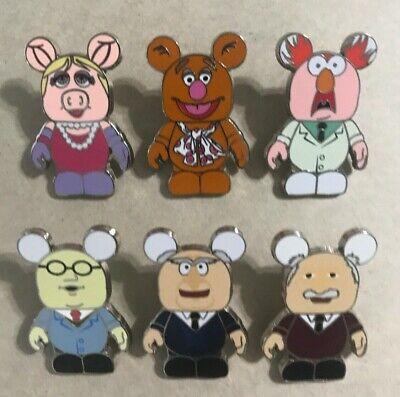 Disney Pins Vinylmation Collectors Set Muppets 6 Pin Set Lot