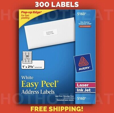 300 Avery 51606240816059605260 Address Mailing Shipping Labels 1 X 2 58