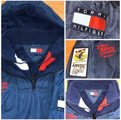 Vintage TOMMY HILFIGER Anorak Parka Jacket Pharaoh Lined 90s Spellout RARE