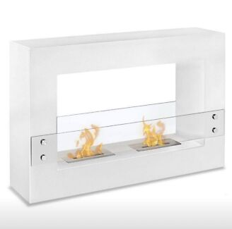 Ethanol Fire Place White Gloss