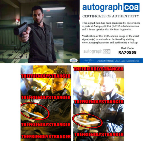 "ZACHARY LEVI signed ""HEROES REBORN"" 8X10 PHOTO - EXACT PROOF - Shazam ACOA COA"