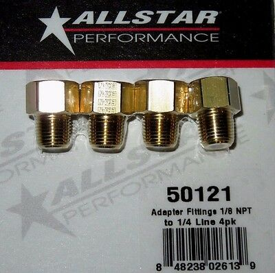Brake Adapter Inverted Flare Fittings 14 to 18  27 NPT Straight 4pk ALL50121