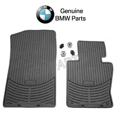 - For BMW E83 X3 2004-2010 Front Black All Weather Rubber Floor Mat Set Genuine