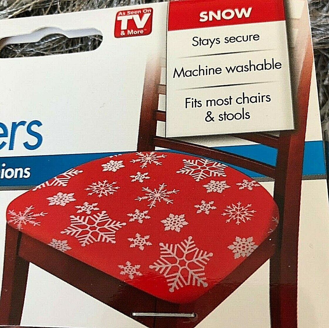 Christmas Stretch Seat Covers SET OF 2 Cover Protector (Spills Stain Torn) XMAS Furniture