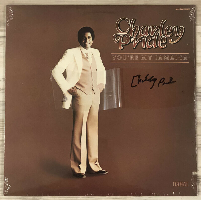"""Autographed CHARLIE PRIDE """"You're My Jamaica """" LP SIGNED"""