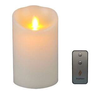 Luminara Moving Wick Flameless Candle with Timer-Remote Included-Vanilla Scent-G