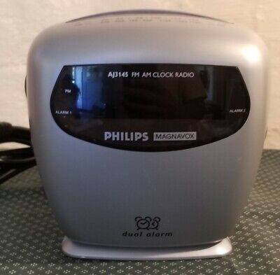 Philips AM/FM Dual Alarm Clock Radio model  AJ 3145