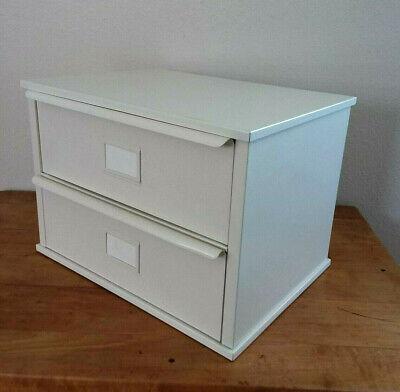 Metal 2 Bin Storage Industrial Drawer Cabinet Desktop Craft Supplies Small Parts
