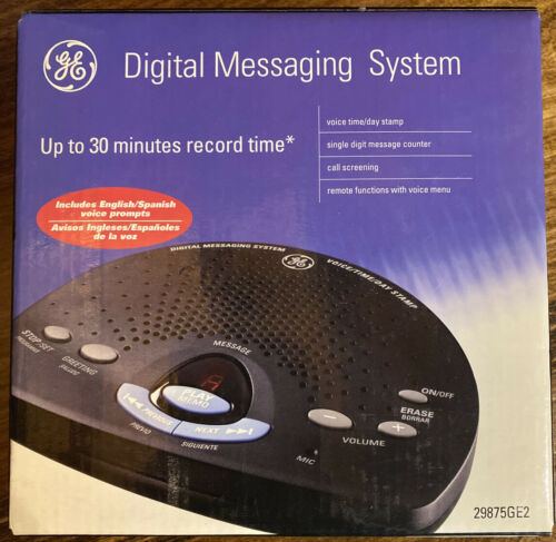 GE 29875GE2 Digital Messaging System with Voice Time and Day