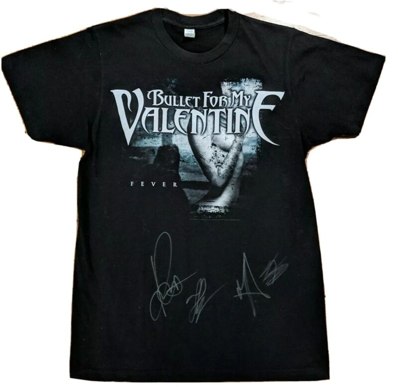 SIGNED Bullet For My Valentine Fever Cover 2010 Tour T-shirt Autographed OOAK